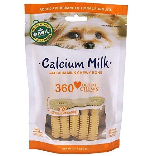 Basil Dental Dog Chews Calcium Milk Treat (90gm)