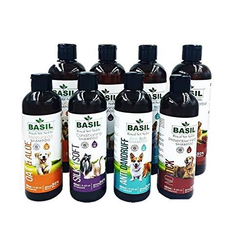 BASIL Royal Yet Noble Basil Pet Shampoo (500ml, NO TICK Preventive Herbal Shampoo)