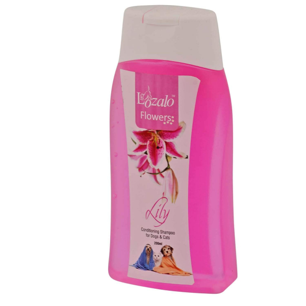 Lozalo Floral Pet Care Conditioning Shampoo for Dogs & Cats (Lily, 200 ml)