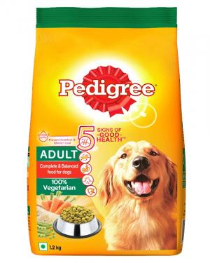 Pedigree Adult Dry Dog Food, Meat & Rice, 3kg Pack