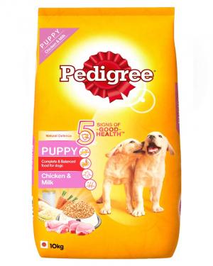Pedigree Puppy Dry Dog Food, Chicken & Milk, 10kg Pack