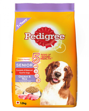 Pedigree Senior Dry Dog Food, Chicken & Rice, 1.2kg Pack