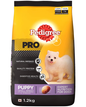 PEDIGREE PRO Expert Nutrition for Small Breed Puppy (2-9 months) 1.2 kg Dry Young, New Born Dog Food