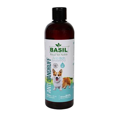 Whoof-Whoof Basil Anti Dandruff Dog Shampoo - 500 ml  