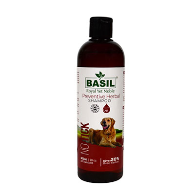 Whoof-Whoof//BASIL Royal Yet Noble Basil Pet Shampoo (500ml, NO TICK Preventive Herbal Shampoo)