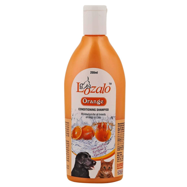 Lozalo Pet Care Conditioning Fruit Shampoo for Dogs & Cats (Orange, 200 ml)