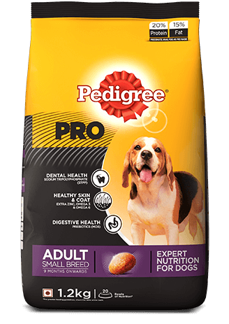 Pedigree PRO Expert Nutrition, Adult Small Breed Dogs (9 Months Onwards) Dry Dog Food, 3kg Pack online at low price on whoof-whoof.com